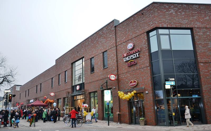 Geschäftszentrum Verbindet City Und Ostenstadtteil Stadt Ahlen