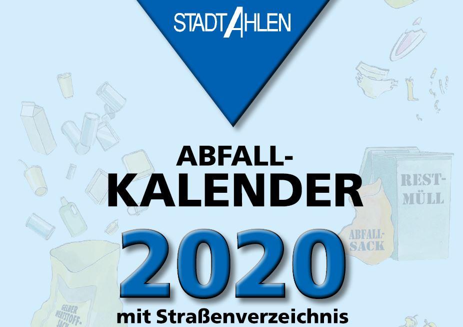 Ahlen müllabfuhr 2020